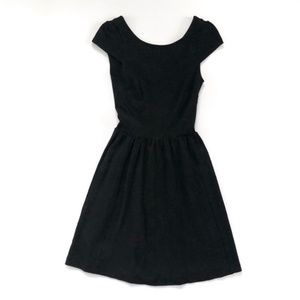 H&M Black Dress with Cap Sleeves